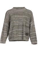 Crew Neck  Stripes Sweaters