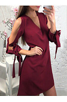 Plain  Long Sleeve Casual Dresses