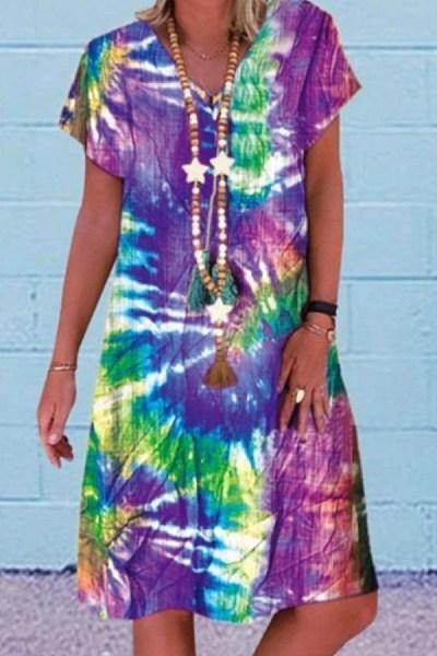 2020 Summer Te-dyed Dress