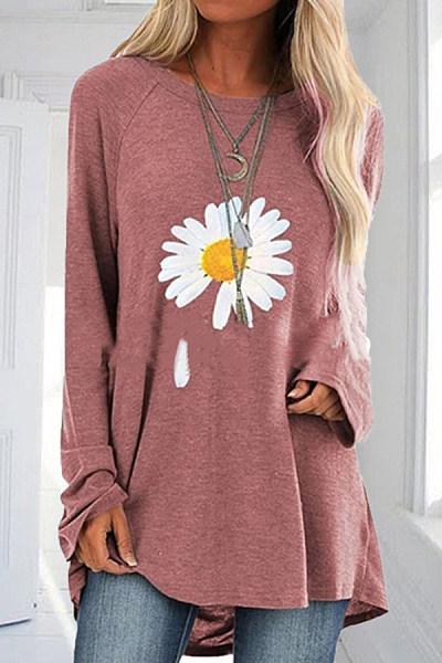 Casual Daisy Print Comfortable T-shirt