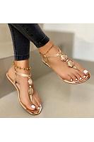Women's casual flat bottom toe beach sandals