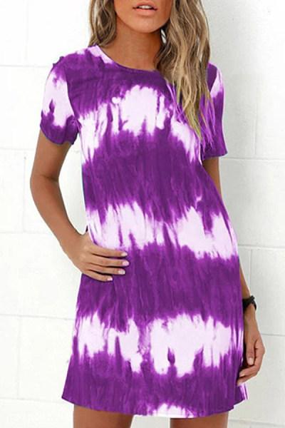 2020 Summer Tie-dye Casual Dress