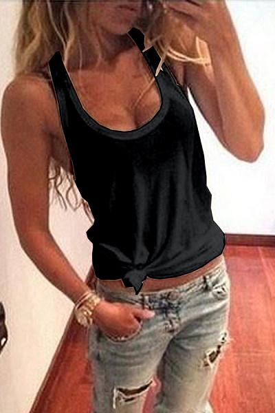 Scoop Neck  Plain Camis