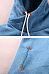 Slit Pocket  Plain Midi Hoodies