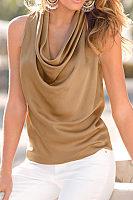 Cowl Neck  Plain Camis