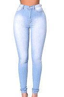 Long Sheat  Denim  Plain  Jeans