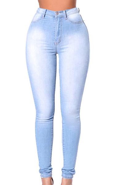 Long Sheat  Denim  Plain  Jeans