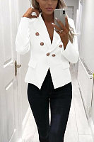 Women Casual Plain Blazers