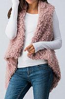 Snap Front  Plain Outerwear