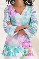 Casual Printed Long-sleeved T-shirt