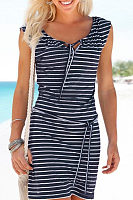 Department Of Leadership Striped Casual Dress