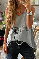 Dandelion Printed Casual Vest