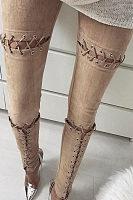 Cutout Drawstring Leggings