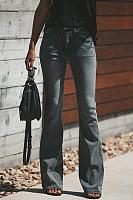 Long Bootcut Plain Jeans