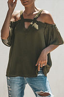 Summer More Colors Sexy V Neck Chiffon Loose Blouses