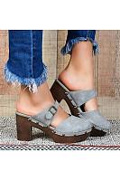 Women's fashion chunky heels