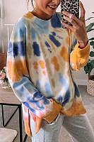 Tie-dye Long Sleeve Loose Sweatshirt