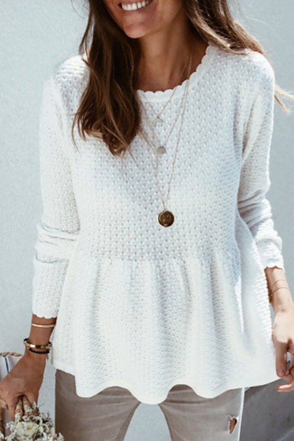 Lovely Loose White Sweater