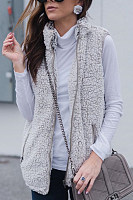 Band  Collar  Plain Outerwear