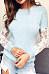 Round Neck  Decorative Lace  Plain Sweaters