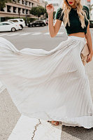 Long  Basic  Plain  Skirts