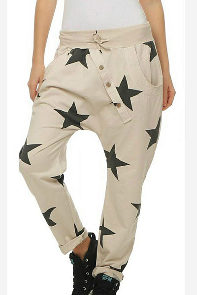Decorative Buttons  Geometric Pants