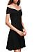 Open Shoulder  Plain Party Dresses