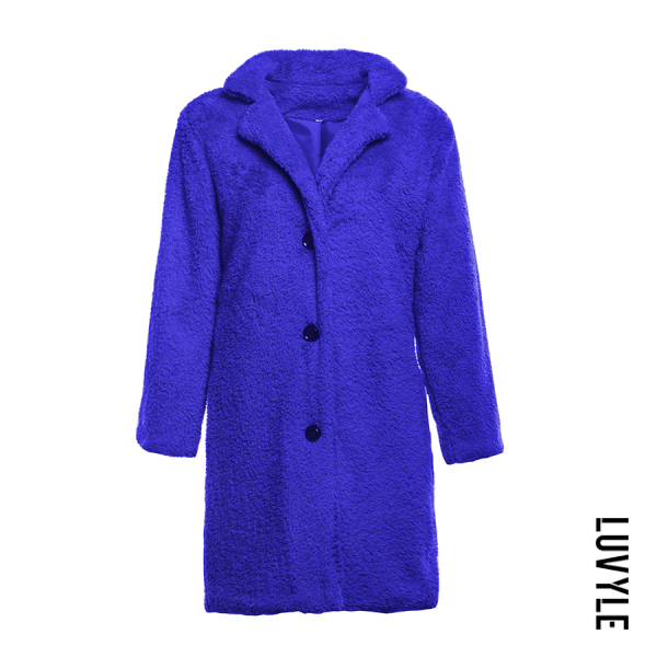 Warm Single Breasted Plain Outerwear - from $27.00