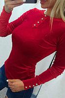 Round Neck  Decorative Buttons  Plain T-Shirts