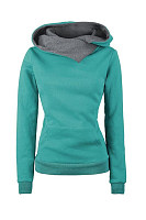 Casual Plain Long Sleeve Hoody