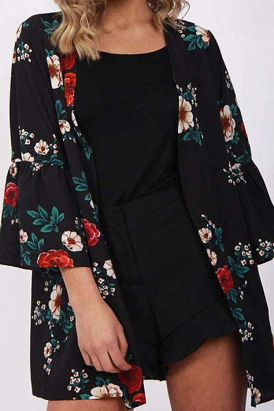 9d77f68396fc Snap Front Printed Cardigans - Luvyle.com