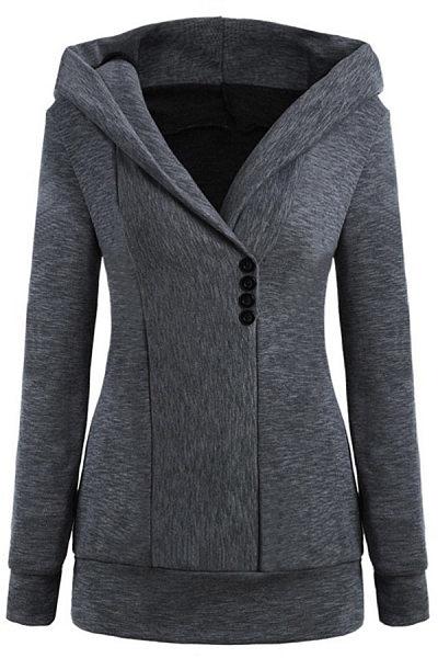 Fashion Long Sleeve Hooded Coat