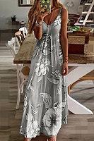 Slim Long Flower Dress