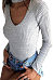 Sexy Halter  Cutout  Plain Bodysuits