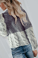 Loose Color-Stitching Thick Pullover Sweater