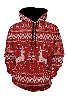Christmas  Hooded  Animal Prints Outerwear