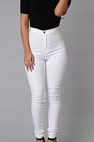 Long Sheath Denim Plain  Basic Jeans