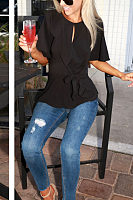 Waist Ruffled Skirt Top