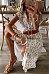 Retro French Small Fresh Printed Split Dress