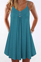 Loose V-neck camisole dress