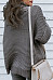 Turtle Neck Loose Fitting Plain Knit Pullover