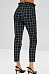 Fitted Basic Gingham Pants