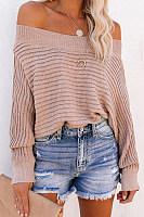 Open Shoulder Collar Solid Sweater