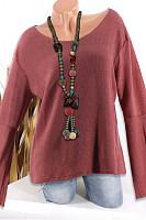Round Neck Loose Knit Bat Sleeve Long Sleeve Knit Sweater Female