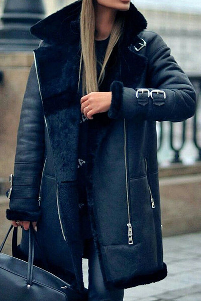 Fashion personality street leather women's coat RY36