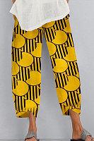 Loose printed casual pants