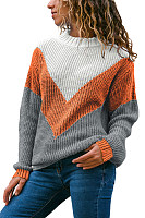 Round Neck Long Sleeve Colouring Sweater