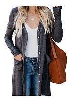Single-Breasted Cardigan Long-Sleeve Button Sweater