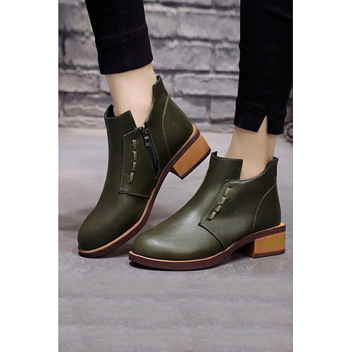 Plain Boots    Leather Booties