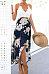 Deep V Neck Curved Hem Sleeveless Maxi Dresses